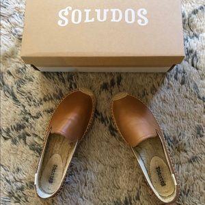 Soludos leather smoking platform espadrilles